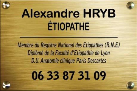 Plaque 750 - Alexandre Hryb - etiopathe Cogolin - Saint Tropez - Sainte Maxime - Le Lavandou - La Londe 2